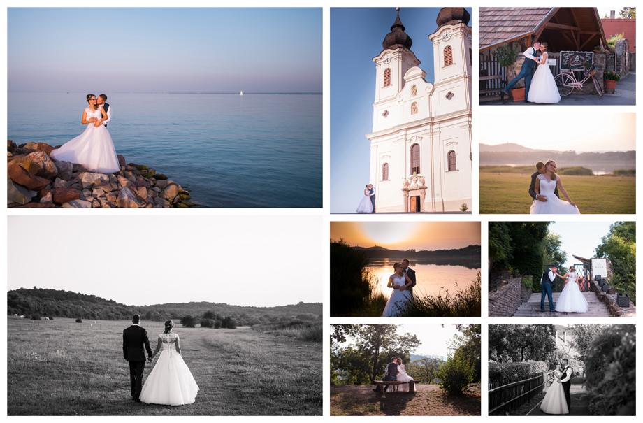 Esküvői fotózás Tihany